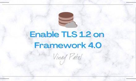 Enable TLS 1.2 on Framework 4.0