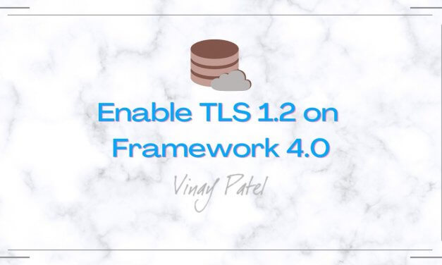 Enable TLS 1.2 on Framework 4.0